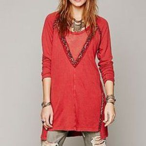Free People Crossroads Tunic - Red